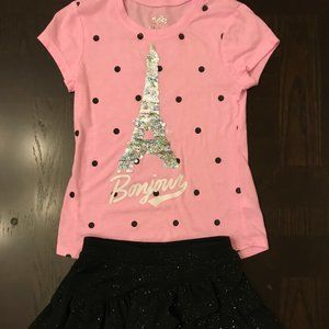 Justice Shirt and Skort Size: 6/7